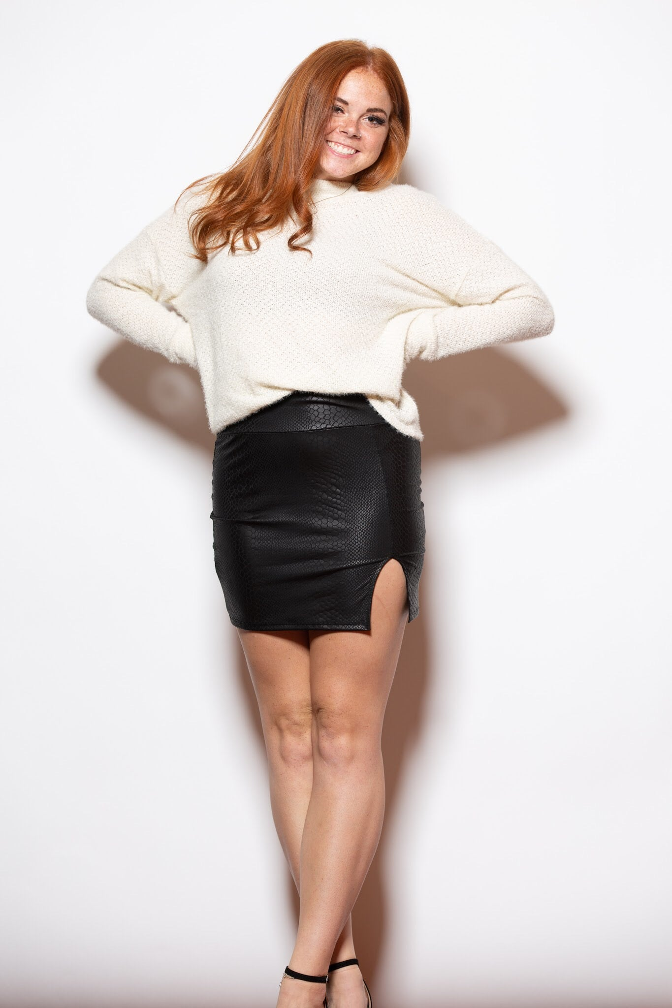 Never Let Me Go Snakeskin Skirt - impromptu boutique