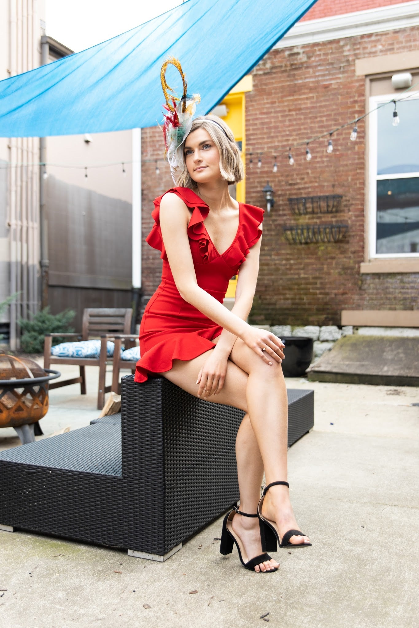 All Of Me Red Ruffle Dress - impromptu boutique