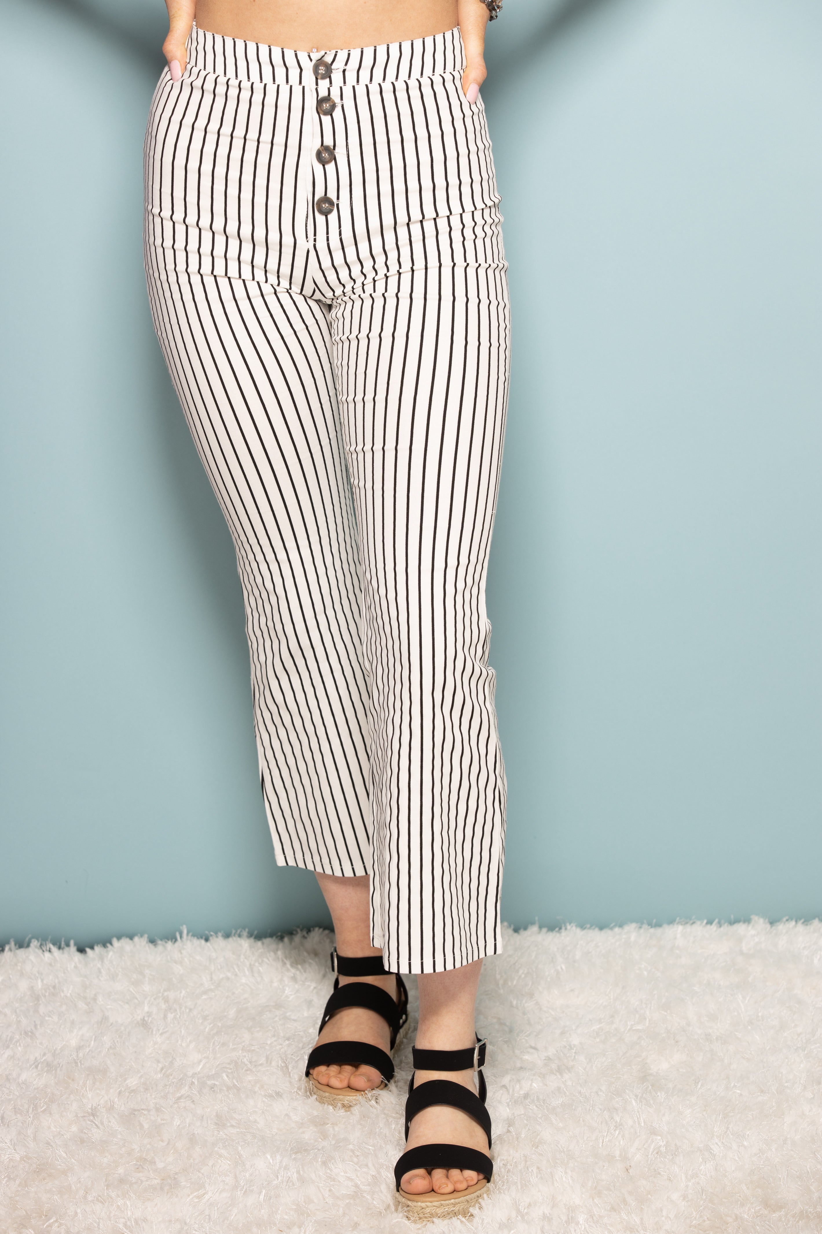 Standing By Your Side Stripe Cropped Pants - impromptu boutique