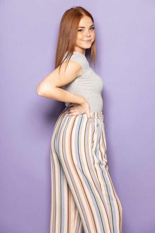 Chasing You Blue Stripe Pants - impromptu boutique
