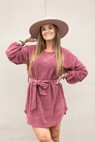 Comfortably Yours Taupe Off the Shoulder Sweatshirt
