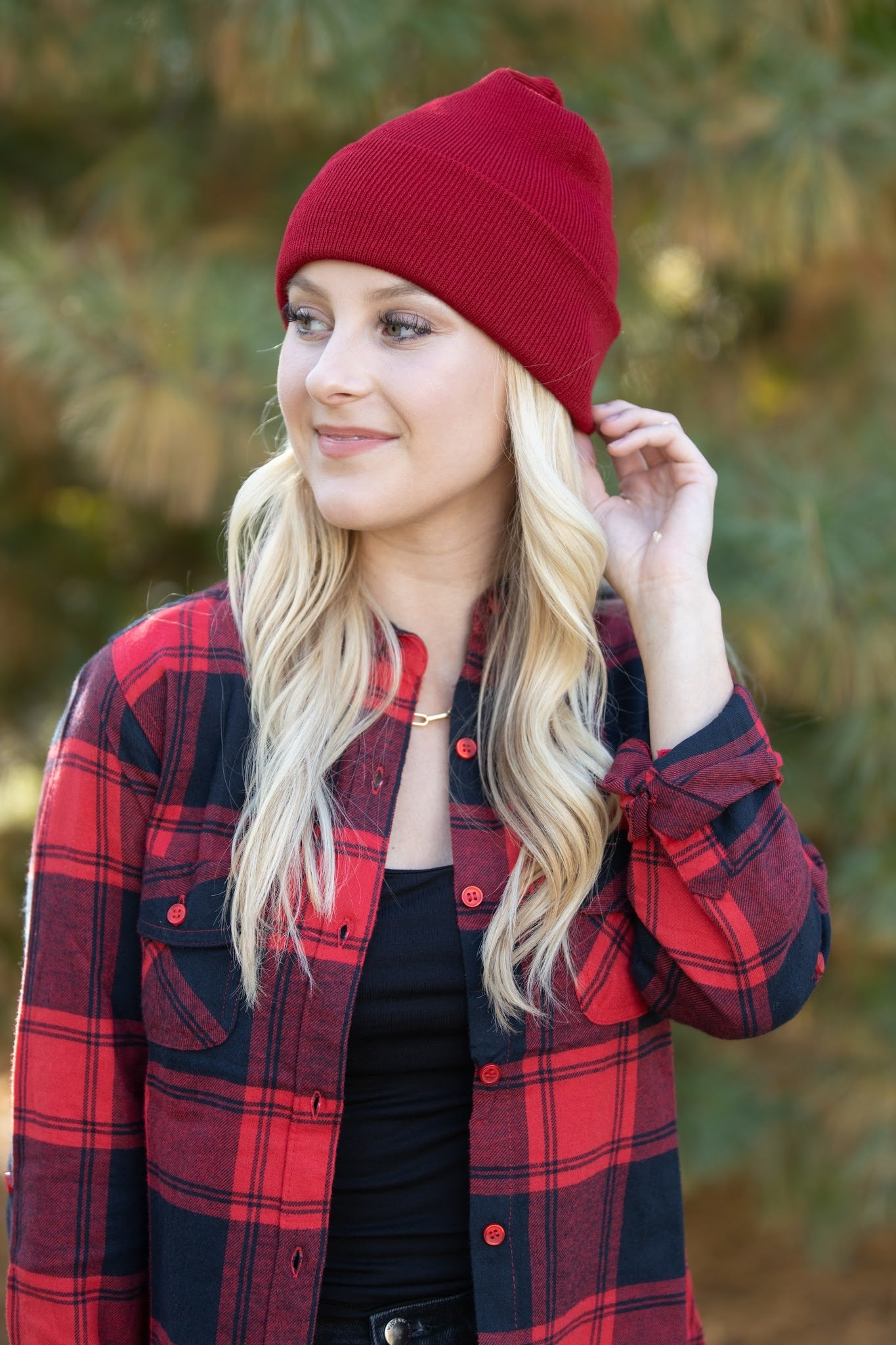 Feel The Same Red & Black Flannel