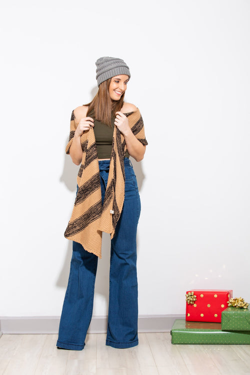 Cozy With You Tan & Black Scarf - impromptu boutique