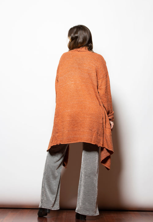 Warming Up To You Rust Cardigan