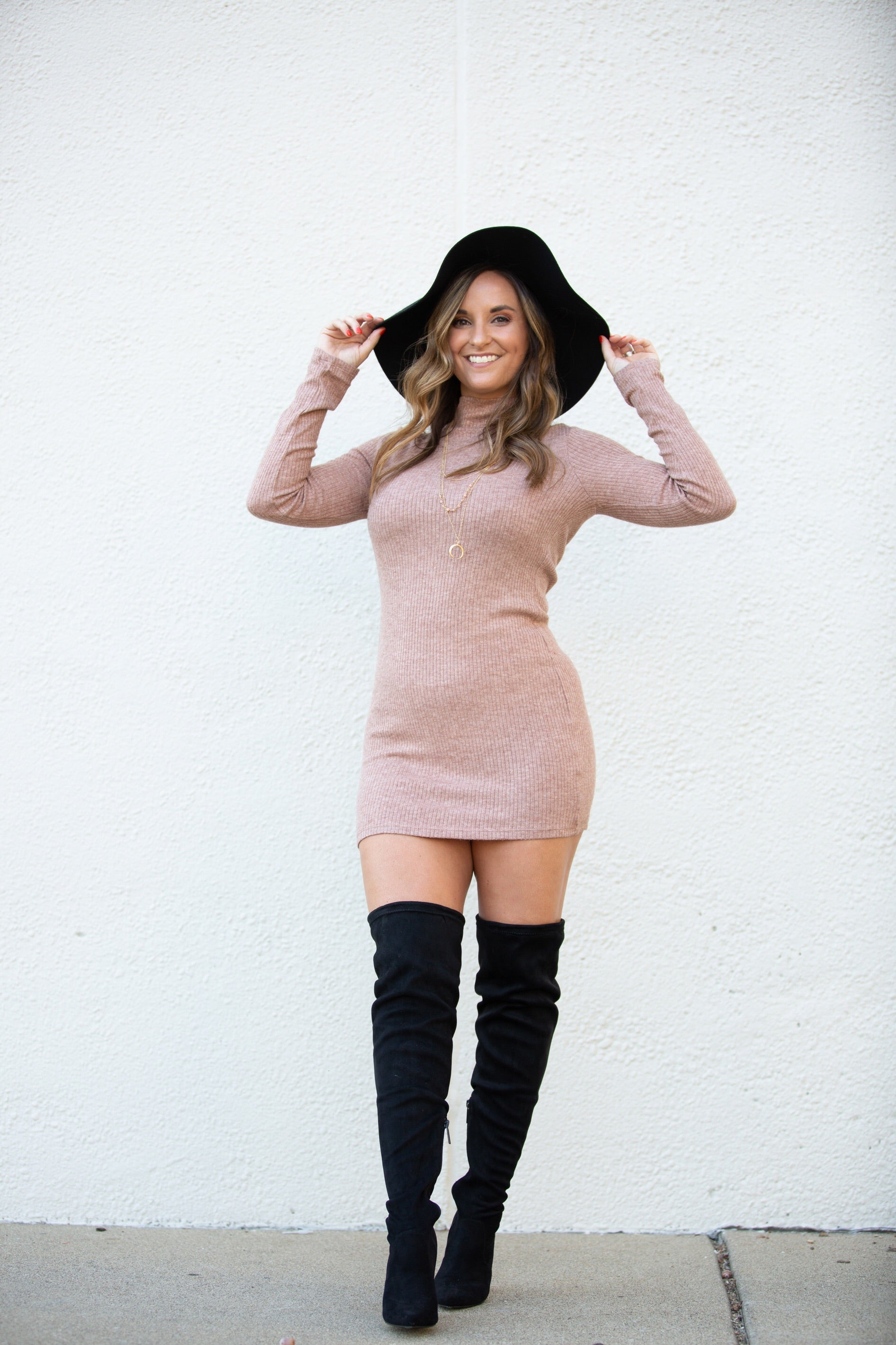 Better For You Latte Sweater Dress - impromptu boutique
