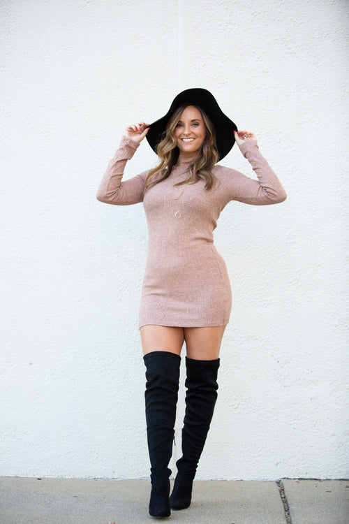 Better For You Latte Sweater Dress