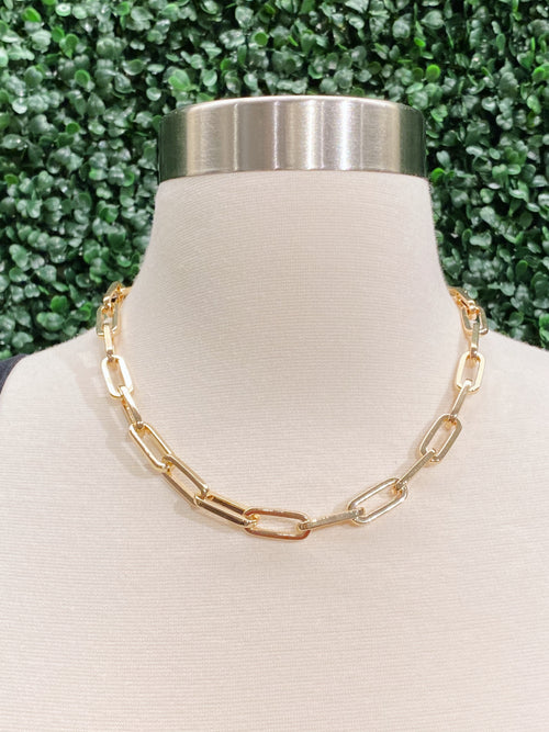 Gold Chain Link Adjustable Necklace *CL331-G*