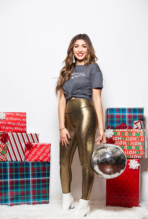 Time To Shine Gold Leggings