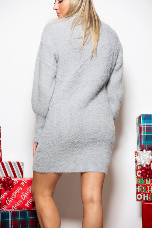Sweet Dreams Grey Sweater Dress - impromptu boutique