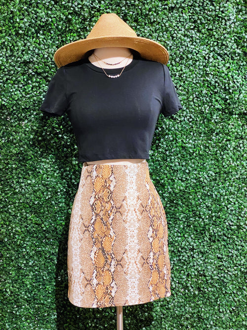 Keeping Secrets Snake Skin Skirt