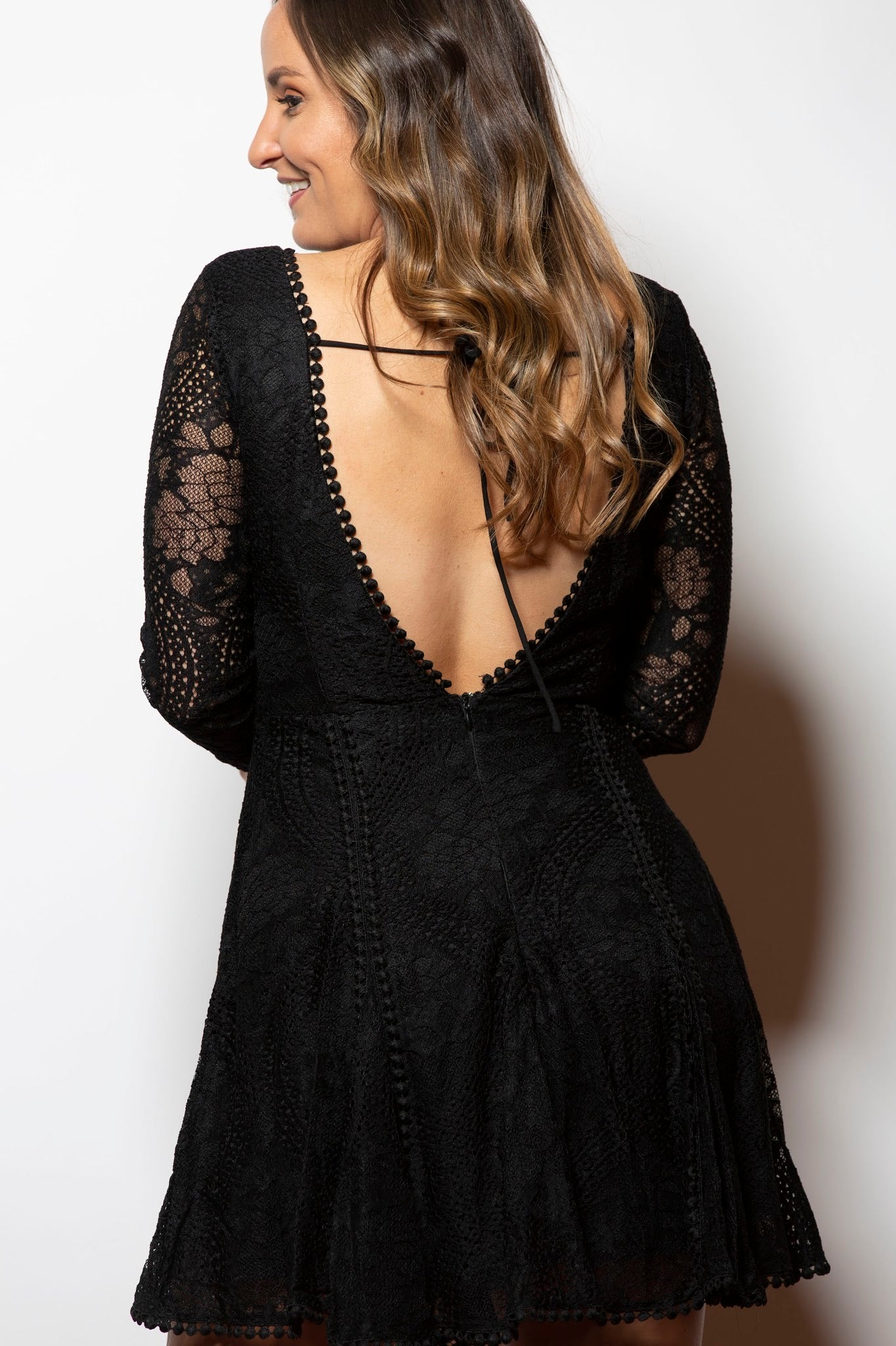 Holiday Date Black Lace Dress