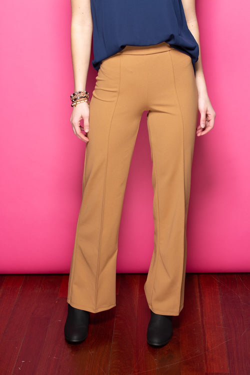 Just Walk Away Pleat Pants: Tan - impromptu boutique