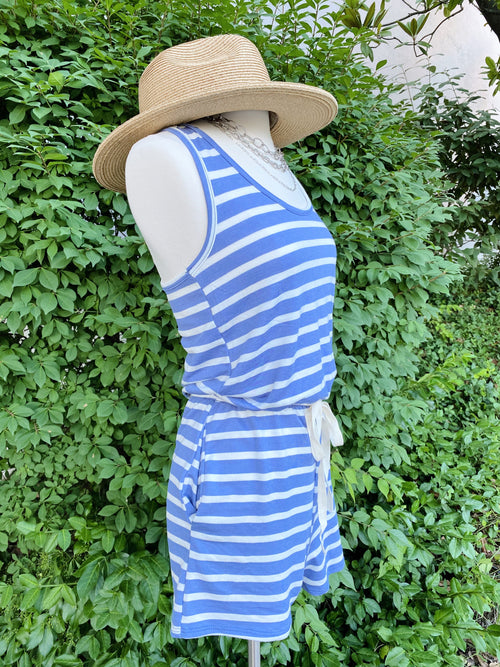 Care For You Blue Stripe Romper
