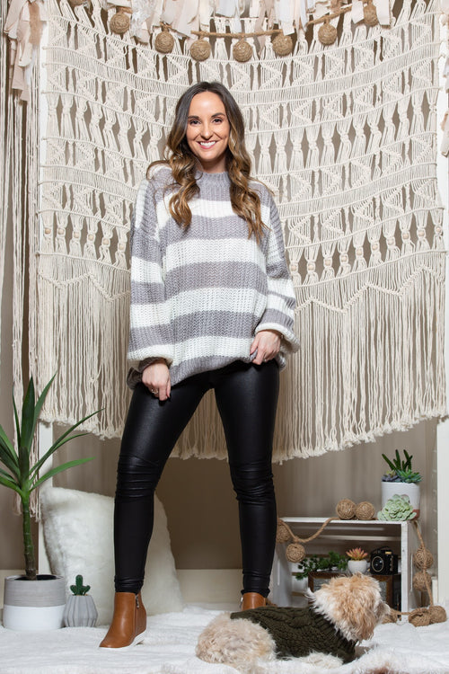 Love We Share Stripe Sweater