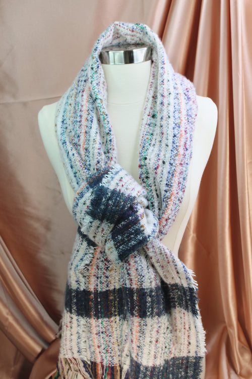 Ivory Multi Color Scarf