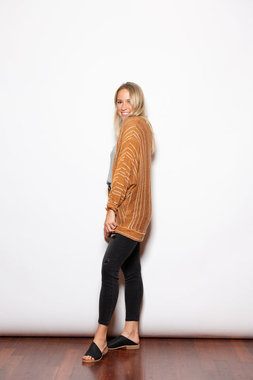 Easy Going Camel Cardigan - impromptu boutique