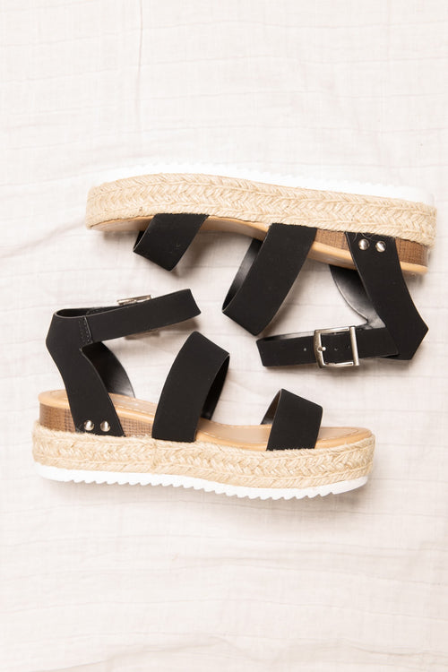 Madison Platform Sandals: Black - impromptu boutique