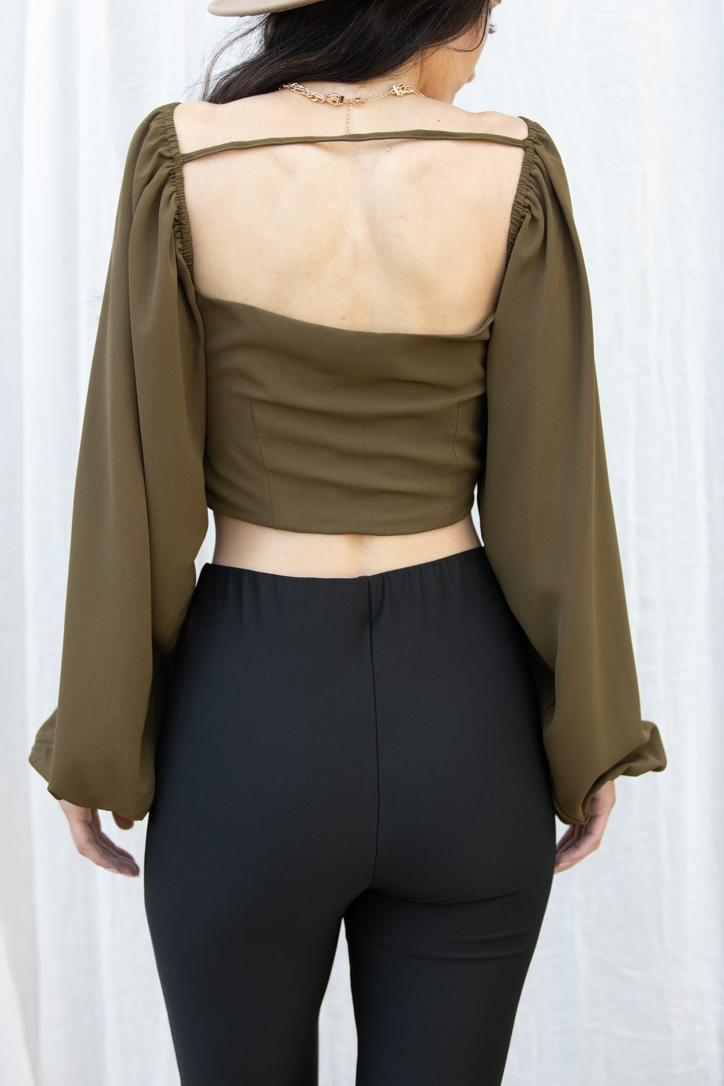 Better Way Long Sleeve Olive Top