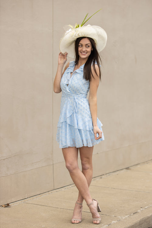 We Found Love Ruffle Dress: Blue - impromptu boutique