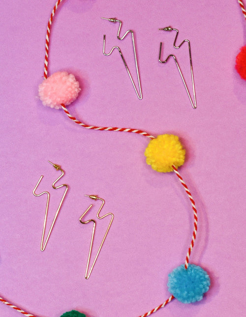 So Electric Lightning Bolt Earrings - impromptu boutique
