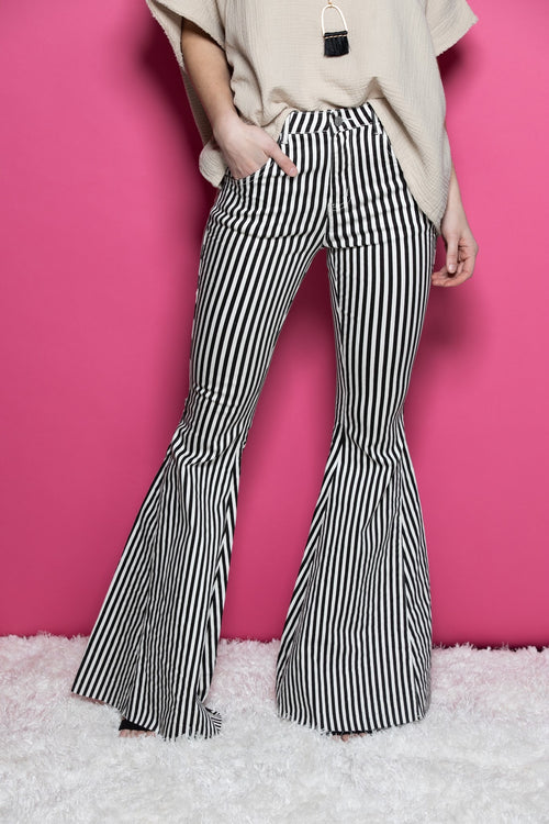 Easy Love Stripe Flare Pants - impromptu boutique