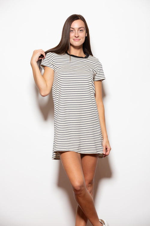 Thinking Of You Stripe T-Shirt Dress