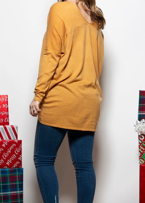 Keep It Simple Mustard Sweater - impromptu boutique