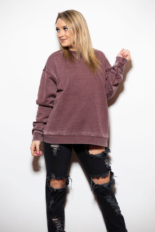 Homebody Purple Crew Neck Sweatshirt - impromptu boutique