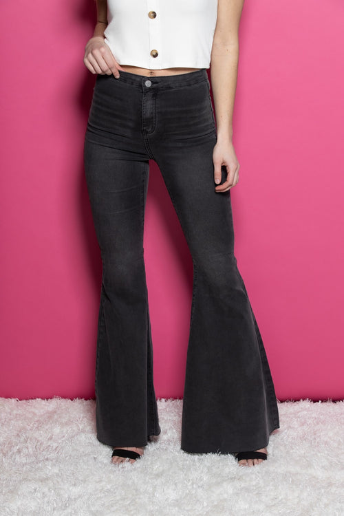 Truth Or Dare Black Denim Flares - impromptu boutique