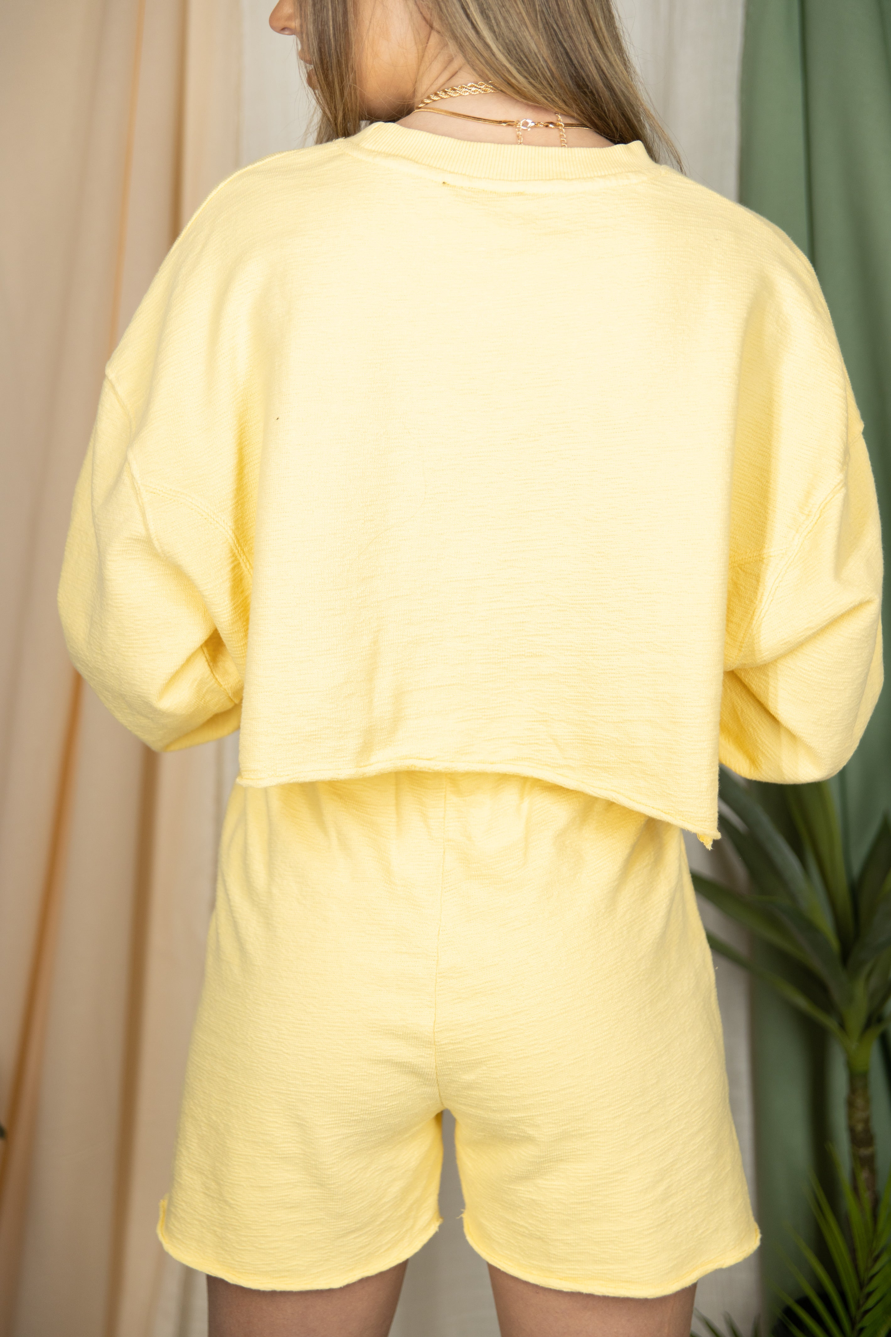 So Tied Up Yellow Sweat Set