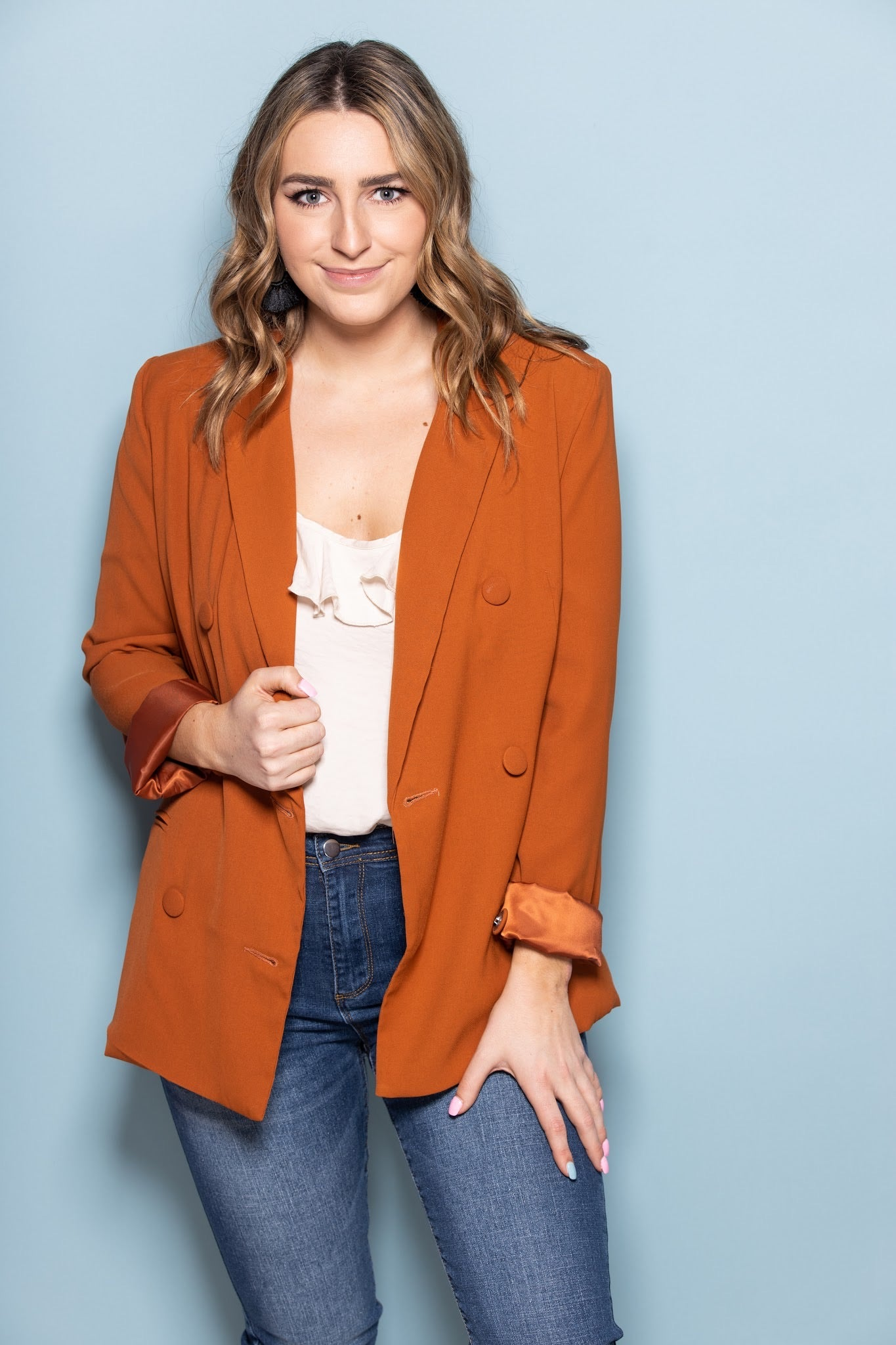 Wish Come True Rust Blazer - impromptu boutique