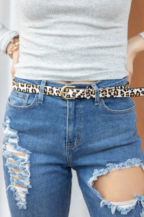 Ivory Cheetah Belt
