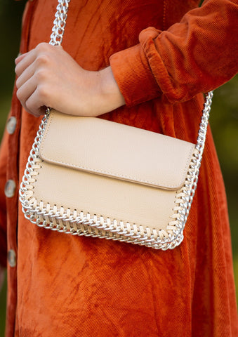 On The Go Studded Handbag: Red