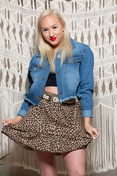 Let It Be Me Leopard Skirt