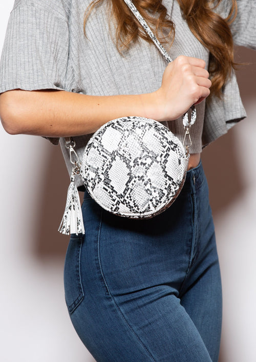 Circle Snakeskin Crossbody or Fanny Pack - impromptu boutique