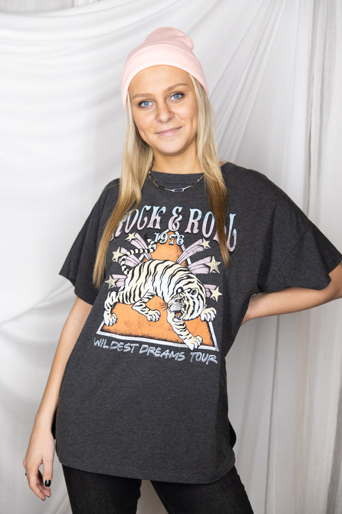Rock And Roll Tiger Graphic Tee