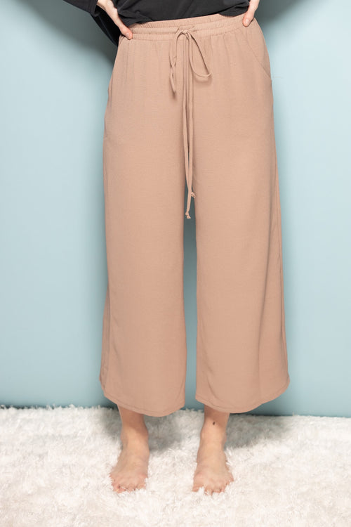 Make It Count Tan Cropped Pants - impromptu boutique
