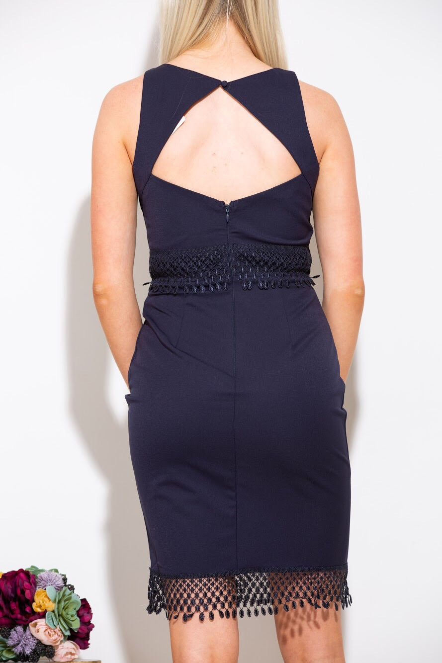 For What It's Worth Navy Dress - impromptu boutique