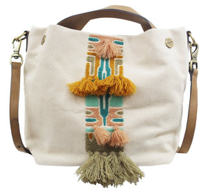 Palm Highway Canvas Tote in Natural Aztec