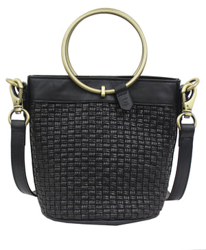 Palm Highway Woven Crossbody in Onyx