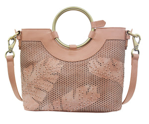 Palm Highway Ring Satchel in Rose