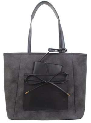 Palm Highway Tote in Charcoal