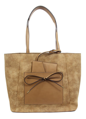 Palm Highway Tote in Tan