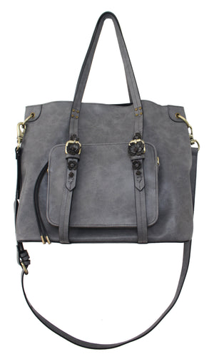 Scattered Blooms Tote in Slate