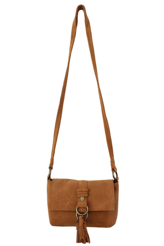 WILDLEDER CROSSBODY IN COGNAC