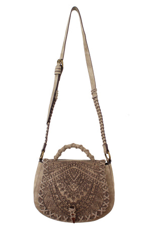 Serengeti Saddle Bag in Stone
