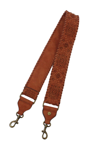 3D Floral Guitar Strap in Terracotta