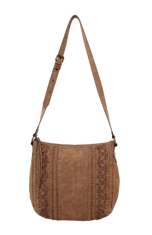 Palomina Crossbody Hobo in Cedar