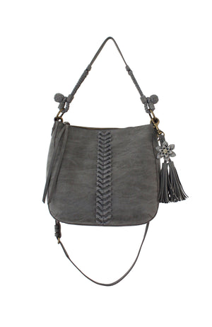 Zargoza Crossbody Hobo in Ebony