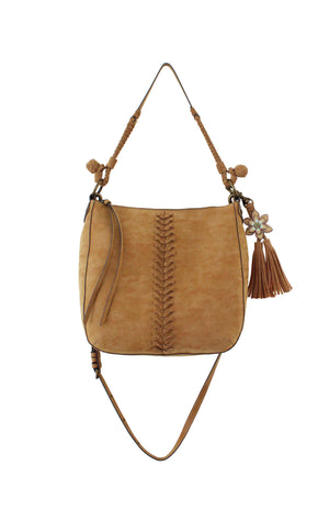 Zargoza Crossbody Hobo in Knotty Oak